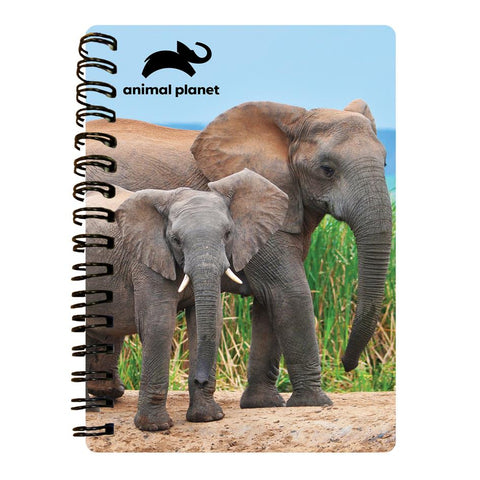 Elephant Prime 3D Effect Animal Planet A6 Notebook