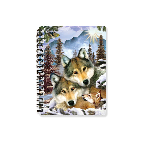 Wolf Harmony 3D Effect Howard Robinson Notebook