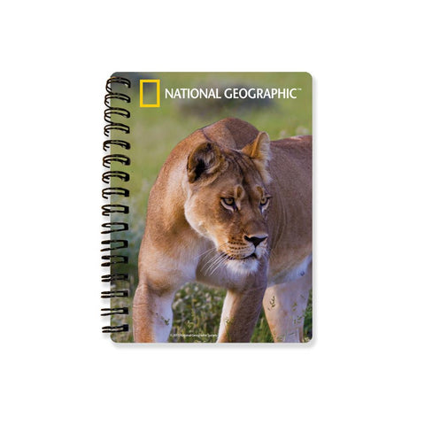 African Lioness National Geographic 3D Effect Notebook
