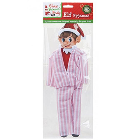 Elves Behavin' Badly Christmas Elf Pyjamas Pink