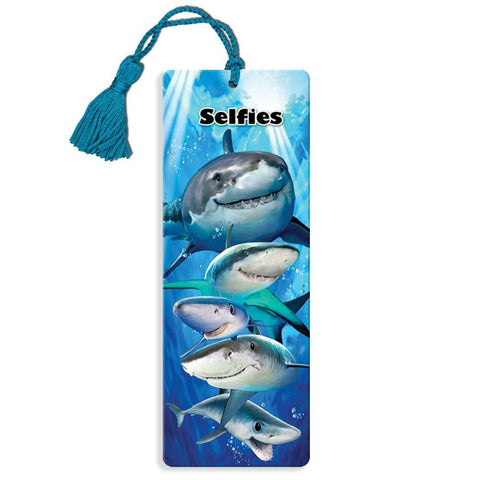 Sharks Selfie Super 3D Effect Howard Robinson Bookmark
