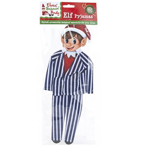 Elves Behavin' Badly Christmas Elf Pyjamas Blue