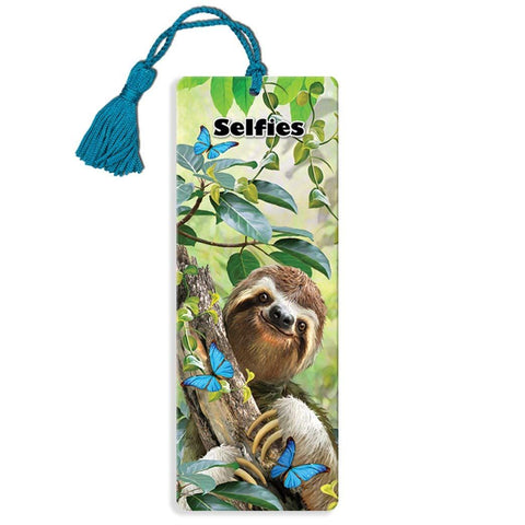 Sloth Selfie Super 3D Effect Howard Robinson Bookmark