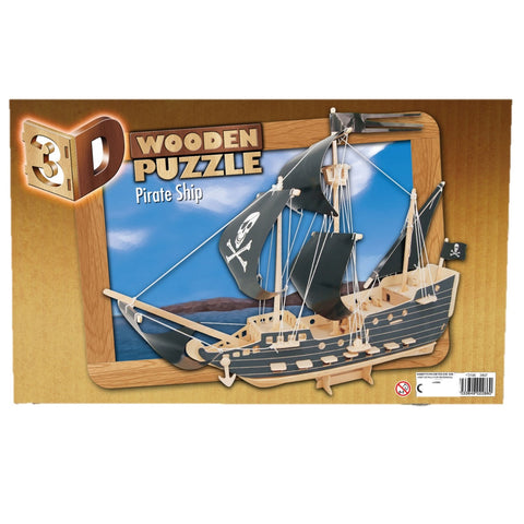 3D Wooden Pirate Ship Puzzle