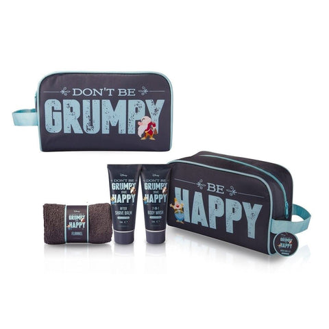 Mens Don't Be Grumpy Be Happy Wash Bag Gift Set