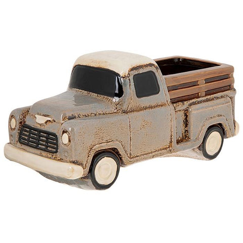 Ceramic Village Pottery Retro Truck Planter Pot