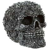 Skull, nuts, bolts and screw design Silver