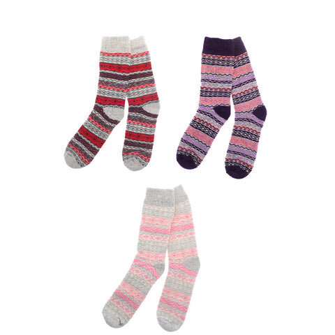 Womens Thermal Extra Warm 2.3 Tog Patterned Socks UK 4-8