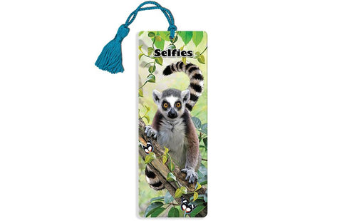 Ring Tailed Lemur Super 3D Effect Bookmark By Howard Robinson