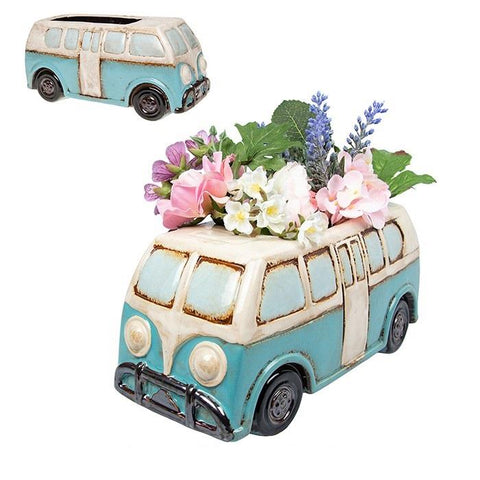 Ceramic Village Pottery Retro Camper Van Planter Pot