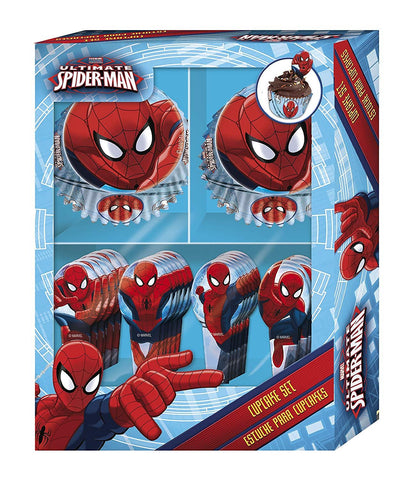 Spiderman Cupcake Set