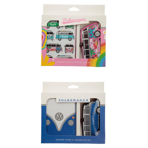 VW T1 Camper Passport Holder & Luggage Tag Set