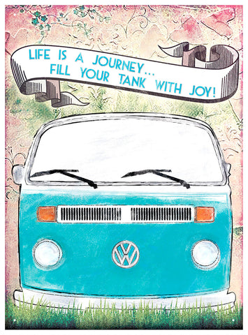 Officially Licensed Volkswagen Life Is A Journey Metal Wall Sign 300 x 410mm