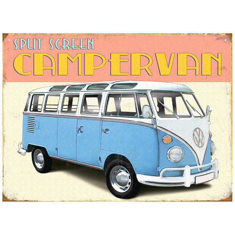 Officially Licensed Volkswagen Retro Camper Metal Wall Sign 300 x 410mm