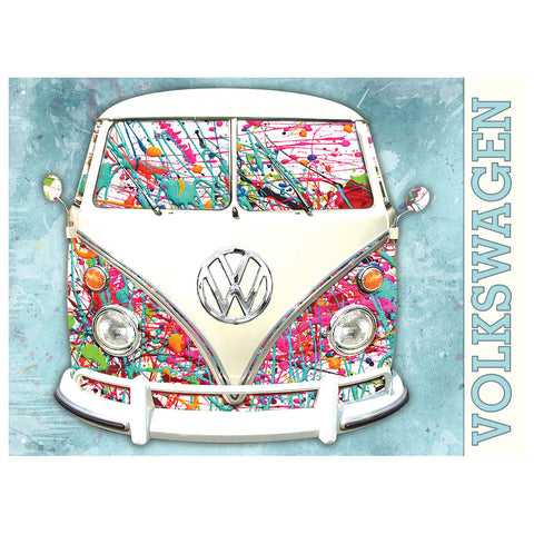 Officially Licensed Volkswagen Camper Paint Splat Metal Wall Sign 300 x 410mm