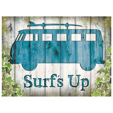 Officially Licensed Volkswagen Surf's Up Metal Wall Sign 300 x 410mm
