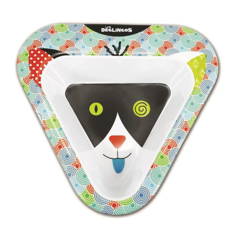 Les Deglingos Melamine Charlos The Cat Bowl
