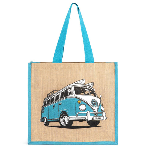 VW Square Jute Shoulder Bag