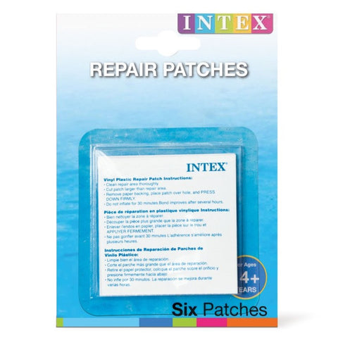 Pack Of 6 Intex Self-Adhesive Vinyl Puncture Repair Kit For Inflatables