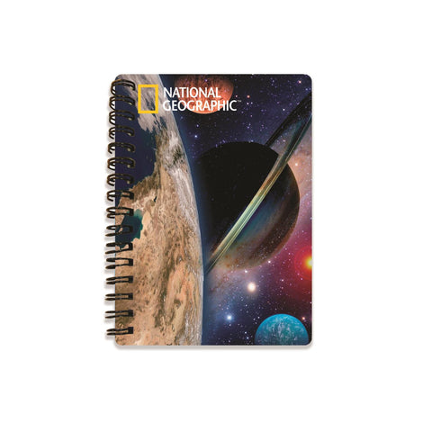 Space Landscape Super 3D Effect Notebook By National Geographic