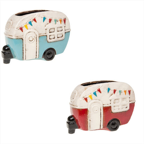 Ceramic Village Pottery Retro Caravan Planter Pot