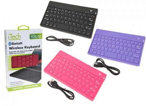 iTech Silicone Bluetooth Wireless Rechargeable Keyboard