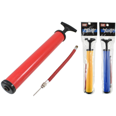 "12"" Ball & Bike Pump With Flexible Adapter & Needle"