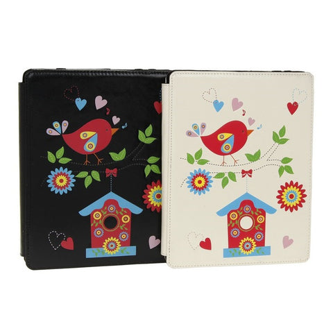 Equilibrium 3D Birds Ipad Wallet Available in Cream and Black
