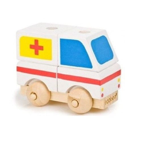 Ecoboo Bamboo Build A Vehicle - Ambulance