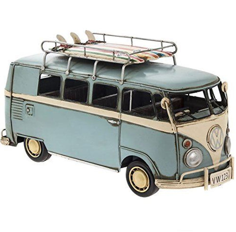 Vintage VW Collectable Metal Model Campervan Blue