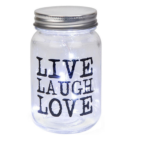 Firefly LED Words Jar by Shudehill Giftware