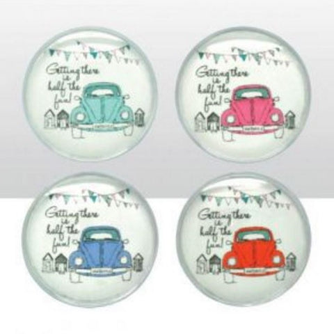 Volkswagen Officially Licensed Beetle Glass Magnets