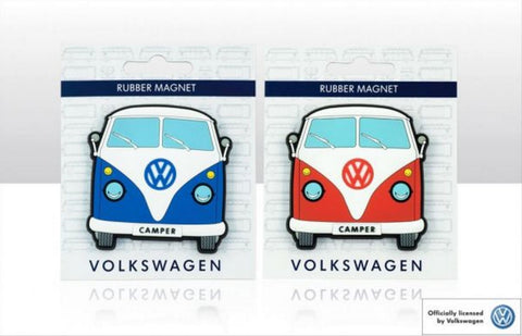 Officially Licensed Volkswagen Rubber Front VW Campervan 2 Pack Fridge Magnets