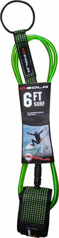 Sola 7mm Surfboard Leash With Quick Release Cuff