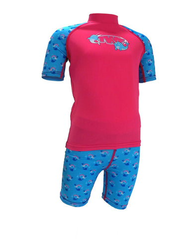 TWF Sunsafe Unicorn Whale Pink Two-Piece Set