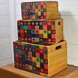 VW Wooden Fir Crates Set Of 3 VW Retro Design Officially Licensed By Volkswagen