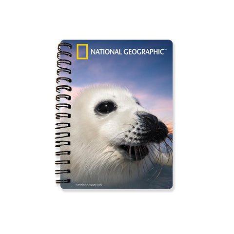 Harp Seal Super 3D Effect Notebook By National Geographic