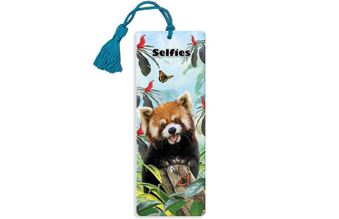 Red Panda Super 3D Effect Bookmark By Howard Robinson