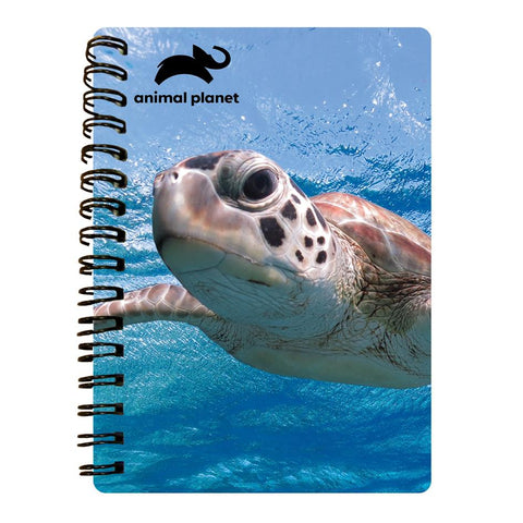 Sea Turtle Prime 3D Effect Animal Planet A6 Notebook