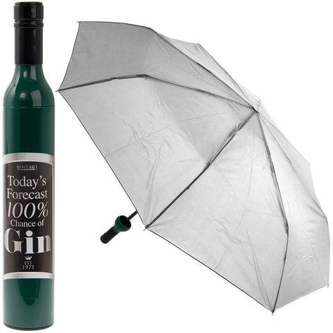 Compact Folding Umbrella 100% Chance of Gin