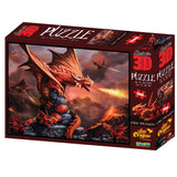 Anne Stokes Fire Dragon 500pc Super 3D Effect Puzle