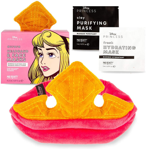 Disney Princess Aurora Headband & Face Mask Set