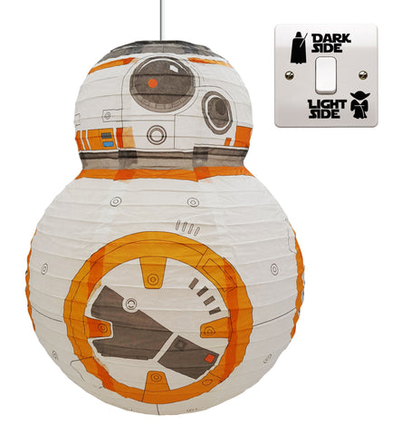 Star Wars Paper Lightshade with Free Light Switch Decal