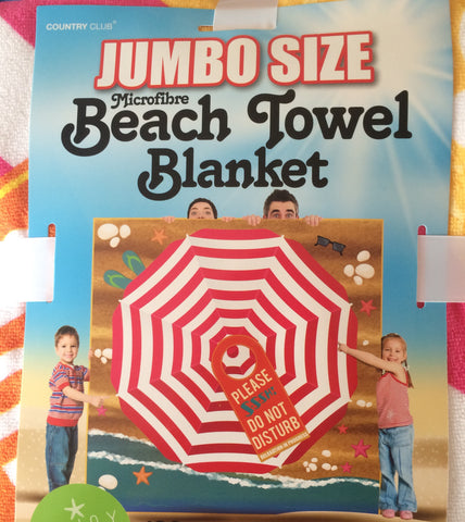 Country Club Jumbo Microfibre Beach Towel Blanket 1.8m sq
