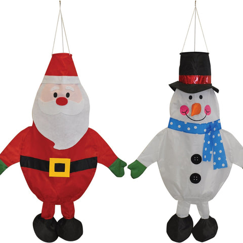 Christmas Windsocks Santa and Snowman Designs by Spirit of Air