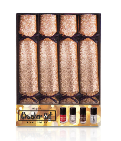 Mad Beauty Gold Glitter Christmas Crackers Gift Set