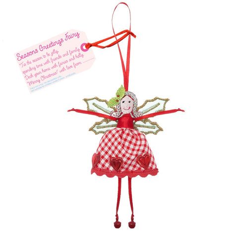 Fair Trade Handmade Hanging Christmas Fairies - 7 Festive Designs To Choose From