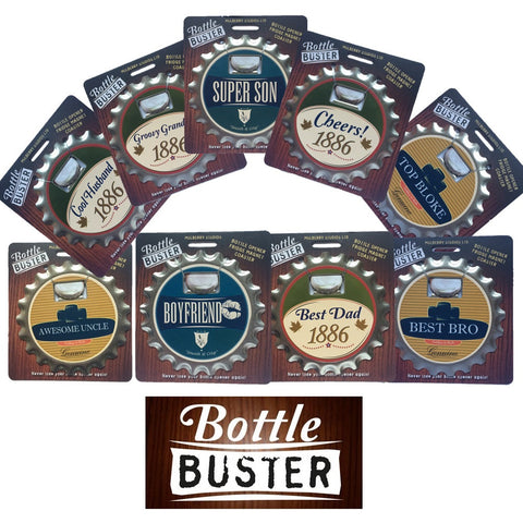Bottle Buster 3 in 1 Gadget. Fridge Magnet, Bottle opener and Coaster