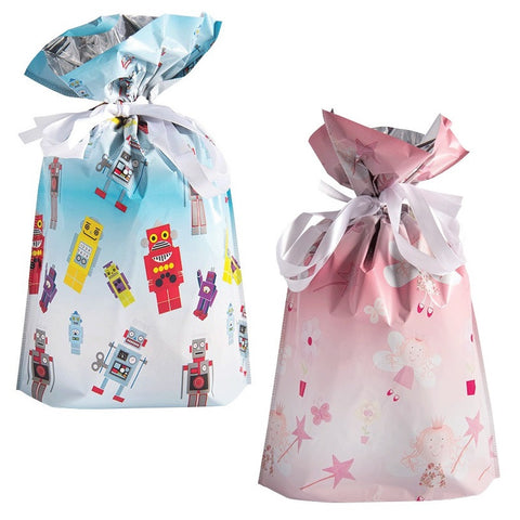 GiftMate Drawstring Gift Bags Kids Designs Pack of 6