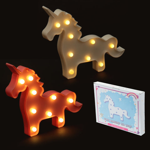 Unicorn LED Standing Light - Pink Or White